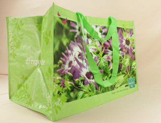 PP Dingels Tasche PP Tasche mit Gartenmotiv 10540 seitlich 10124